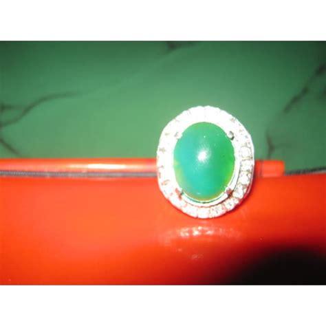 Batu Cincin Bacan Hijau jual cincin batu bacan warna hijau daun www kakalushop