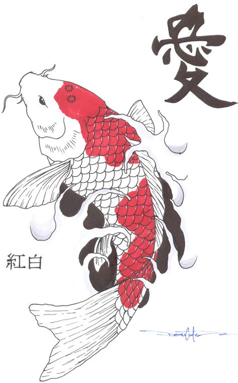 Drawing Koi Fish by Carpe Koi On Koi Japanese Koi And Fish Tattoos