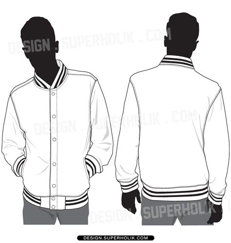 bomber jacket design template varsity jacket template set fashion vector templates