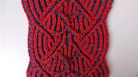 two color brioche stitch center cable two color brioche stitch knitting pattern