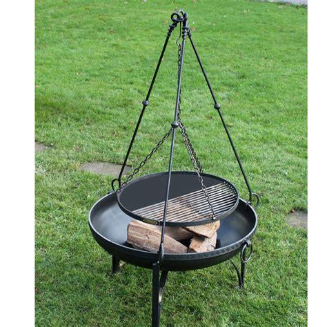 pit cooking tripod plain firepit by firepits uk notonthehighstreet