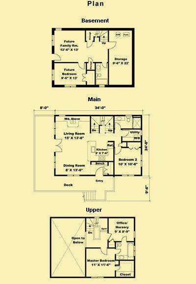 small cottage house plans with basement archives new