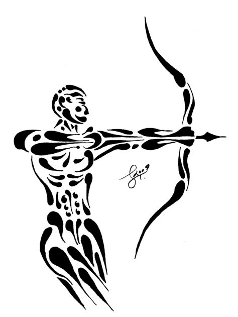 sagittarius tribal tattoo sagittarius tattoos designs ideas and meaning tattoos
