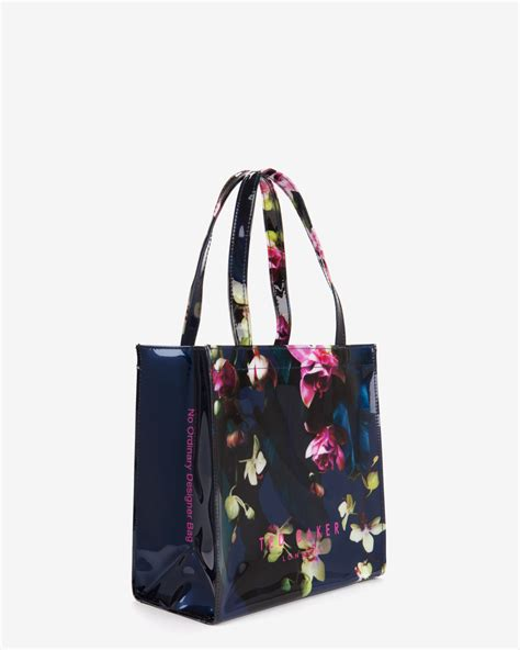 Floral Shopper Bag lyst ted baker small fuchsia floral shopper bag in blue