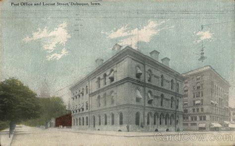 post office and locust dubuque ia postcard