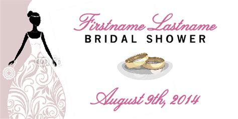 Bridal Shower Label Templates by Template Bridal Shower Label Banner By Esigns