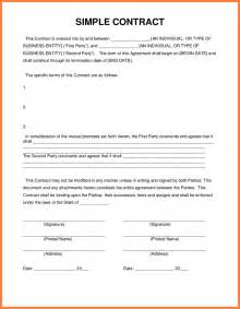 4 simple contracts cv template
