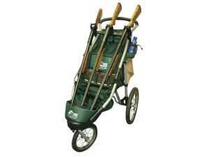 rugged gear standard three gun shooting cart swivel front