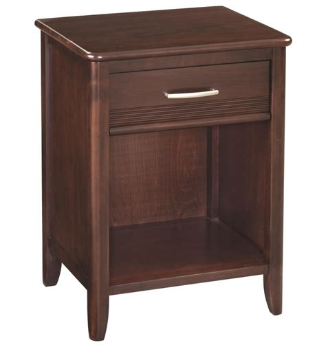 1 Drawer Nightstand 22 Inch Pacific 1 Drawer Nightstand Bare Wood