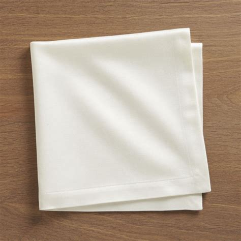 Handmade Napkins - sateen ecru cloth dinner napkin crate and barrel