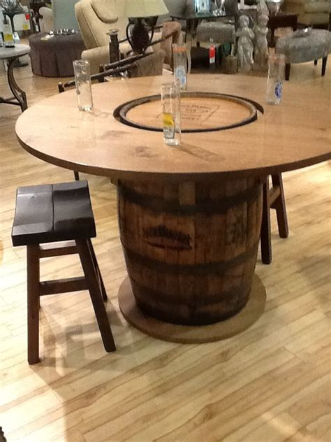 whiskey barrel kitchen table and chairs authentic whiskey barrel bar gananoque