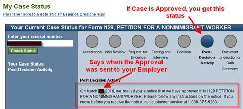 Search Uscis Status How To Check H1b Visa Petition Filing Status Approval Rfe