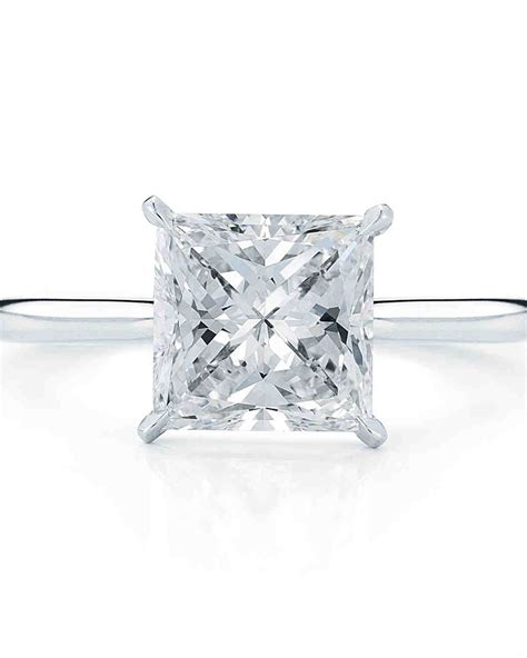 Princess Cut by Princess Cut Engagement Rings Martha Stewart