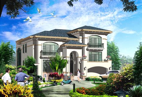 luxury villa plans  cad files dwg files plans