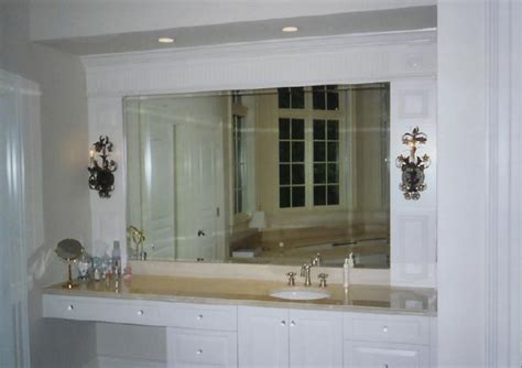 Beveled Bathroom Vanity Mirror Cbell S Glass Window And Door Co Inc Services