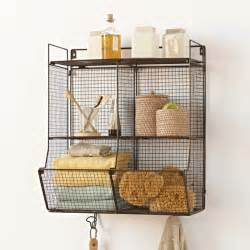 hanging wire shelves metal 4 bin wire hanging shelf eclectic display and