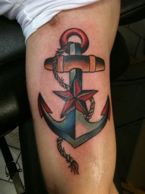 new school anchor tattoo arm new school star anchor tattoo by stay true tattoo