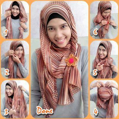 gambar tutorial berhijab modern tutorial cara memakai hijab modern pashmina