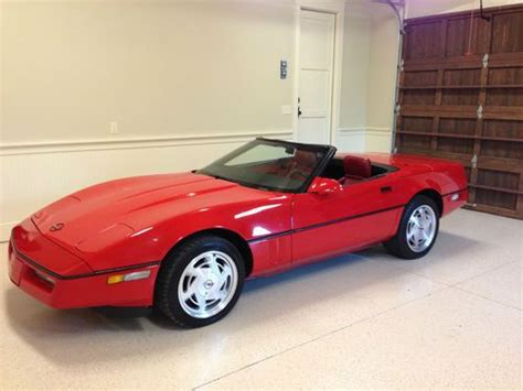 automobile air conditioning service 1989 chevrolet corvette electronic valve timing purchase used 1989 corvette convertible bright red red leather white top in cartersville