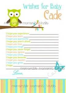baby shower wish list template 1000 images about baby boy shower on owl