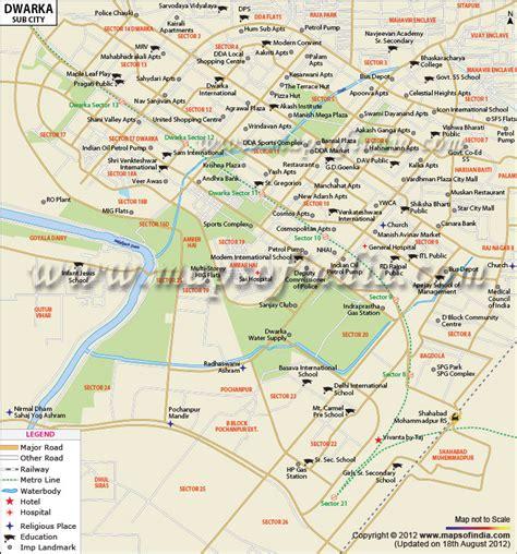 Dwarka Sub City Map