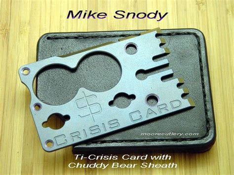 snody crisis card for sale mike snody crisis card w chuddy leather sheath