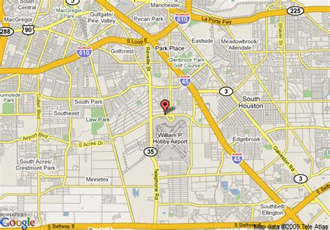 houston map hobby airport map of quality inn hobby airport houston