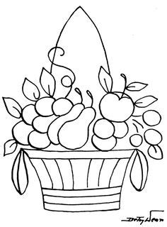 A Bowl of Fruits coloring page for kids, fruits coloring