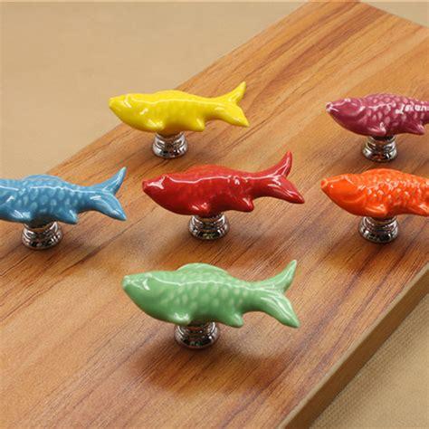 Fish Door Knobs by 10x Retro Fish Ceramic Door Knob Kid Room Cupboard Cabinet Drawer Pull Handle In Handles Knobs