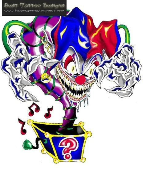evil jester tattoo designs best 25 clown ideas on scary clown