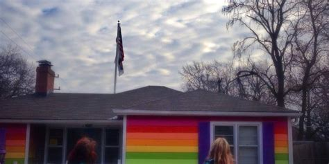 equality house bi teen visits equality house to symbolically come out to