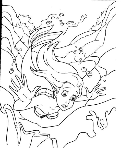 coloring pages of ariel and her sisters how to draw ariel sisters