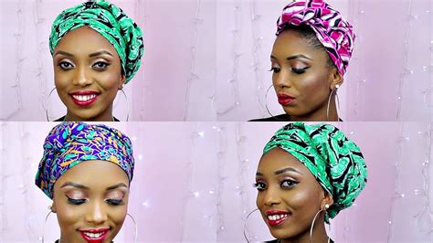 new styles guide to tying nigerian traditional head tie how to tie african ankara head wrap scarf three unique