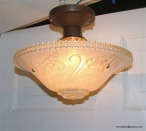vintage glass pendant hanging ceiling light l shade antique