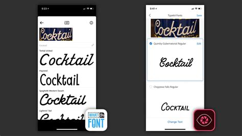 comparison   apps  identifying fonts   iphone tomac