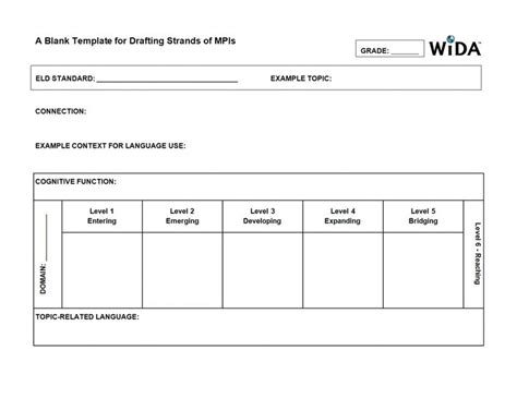 wida lesson plan template wida drafting strands of mpi template esl strategies