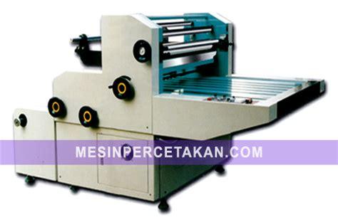 Mesin Laminating Otomatis daftar harga mesin cetak percetakan
