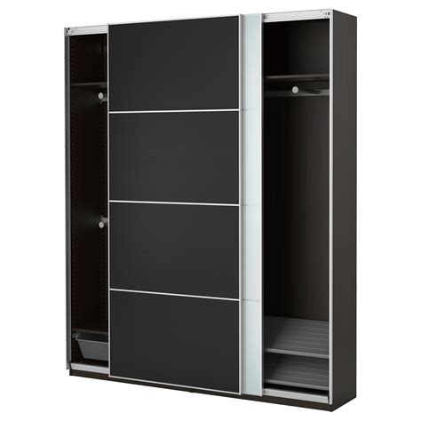 Wardrobes Black by Pax Wardrobe Black Brown Auli Ilseng 200x44x236 Cm Ikea