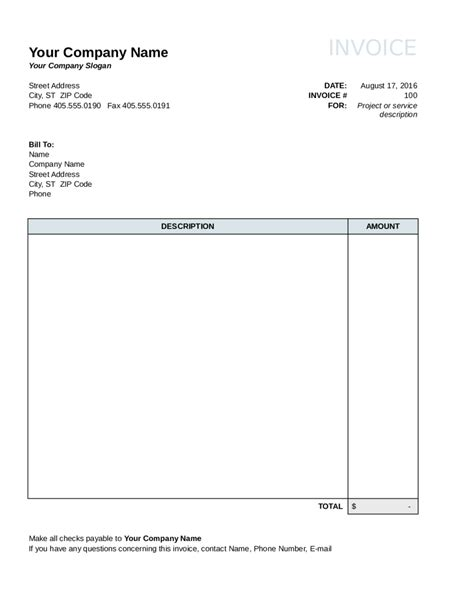 i need an invoice template 2017 invoice template fillable printable pdf forms