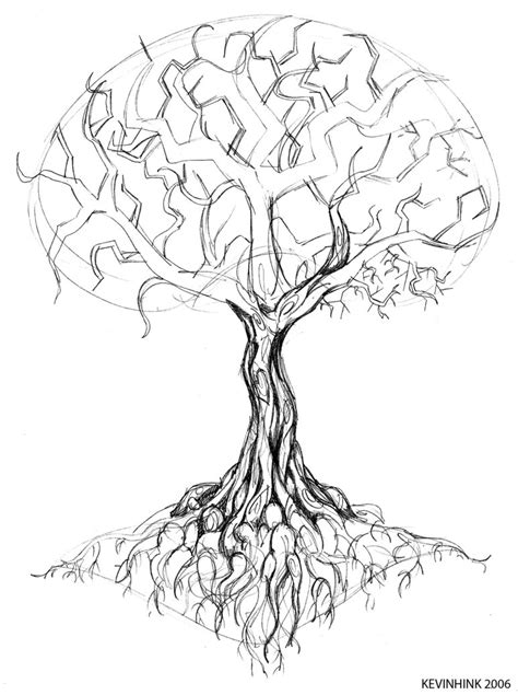 black tree with roots tattoo design photo 3 photo
