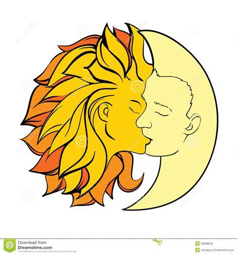 imagenes del sol y luna juntos kiss sun and moon stock vector image of tale together