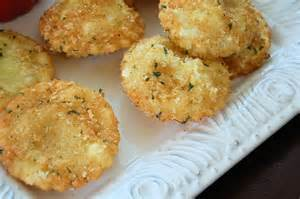 Fried Parmesan Parmesan Crusted Fried Cheese Raviloi Kitchen Belleicious