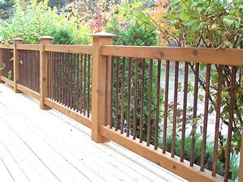cedar deck railing with iron view more deck railing ideas
