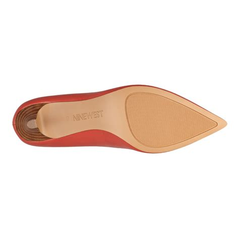 Skylar Pointy Mules nine west andriana pointy toe in orange lyst