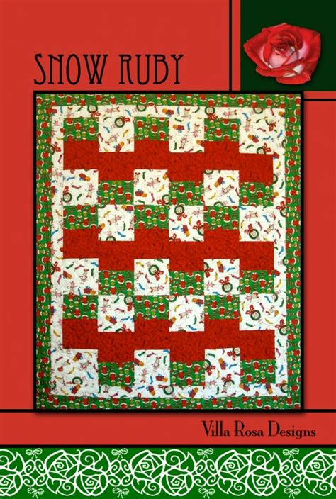 snow ruby pattern one quilt place