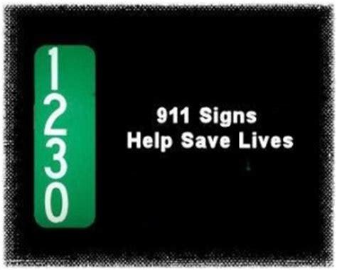 911 Address Search Reflective 911 Address Signs