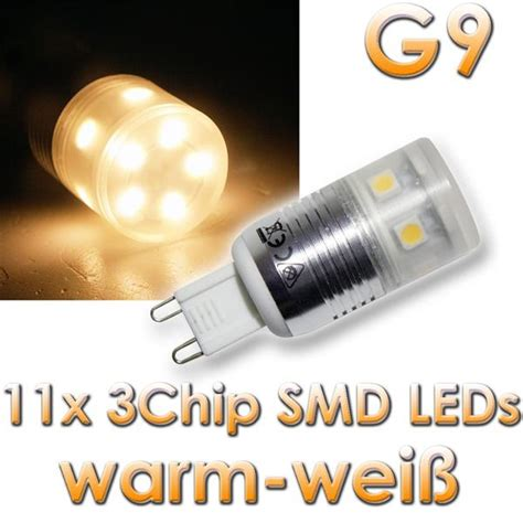 Sockel G9 Led Leuchtmittel by Led Leuchtmittel G9 11x 3chip Smd Leds Warmwei 223 Im Led Onlineshop Www Highlight Led De