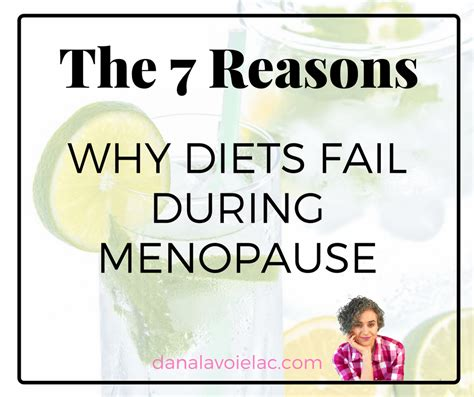 7 Reasons Why A Crash Diet Is A Bad Idea by The 7 Reasons Why Diets Fail During Menopause