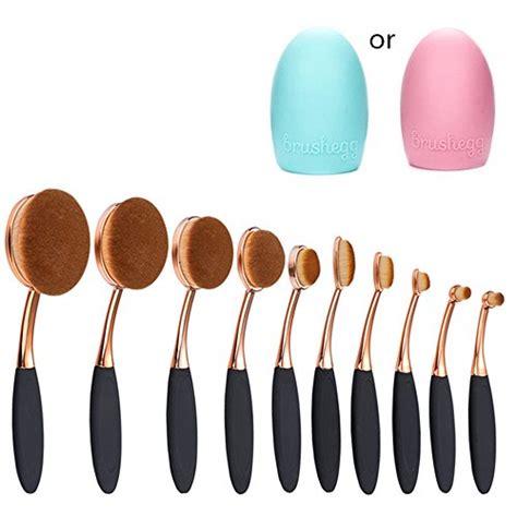 Oval Brush Supersoft multi function oval makeup brushes 10pcs fashionable soft toothbrsh makeup brush set