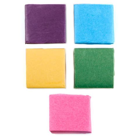 Square Craft Paper - assorted precut tissue paper squares paper mache basic